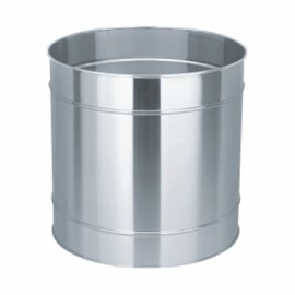 "Stainless Steel Planter 18"" DIA"